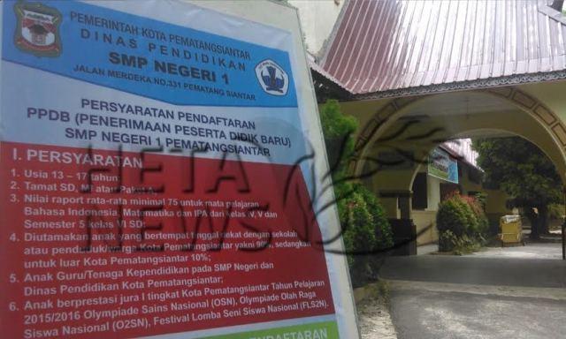 Senin Smpn 1 Kota Siantar Buka Pendaftaran Siswa Baru