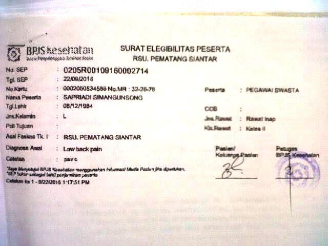 Contoh Surat Perintah Rawat Inap Dari Dokter Free Download