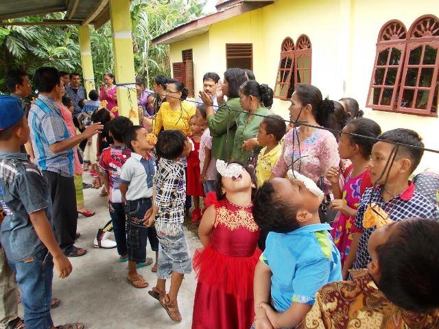 Ratusan Anak Sekolah Minggu Ikuti Pertandingan Di Gkps Rantau Laba